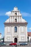 MINSK BIAŁORUŚ, SIERPIEŃ, - 01, 2013: Replika poprzedni Grecki kościół katolicki Świętego ducha XVII wiek Zdjęcie Stock