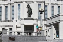 MINSK BIAŁORUŚ, SIERPIEŃ, - 01, 2013: Szczegóły Uroczysta opera Krajowy Akademicki teatr baletowy i Zdjęcia Royalty Free