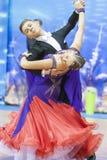 Minsk, Bielorrússia 15 de fevereiro de 2015: Pares da dança de Shmidt Danila Imagem de Stock Royalty Free