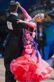 Minsk, Bielorrússia 14 de fevereiro de 2015: Pares profissionais da dança de K Imagem de Stock Royalty Free