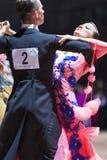 Minsk, Bielorrússia 14 de fevereiro de 2015: Pares profissionais da dança de K Imagens de Stock