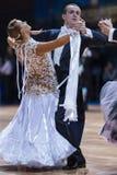 Minsk, Bielorrússia 14 de fevereiro de 2015: Pares profissionais da dança de K Imagem de Stock
