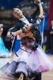 Minsk, Bielorrússia 14 de fevereiro de 2015: Pares profissionais da dança de P Fotos de Stock Royalty Free