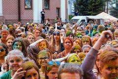 Minsk, Bielorrússia - 14 de maio de 2016:- o festival das cores Fotografia de Stock