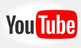 MINSK, BIELORRÚSSIA 10 DE MAIO DE 2018: Logotype de YouTube impresso no papel YouTube é um Web site departilha ilustração do vetor