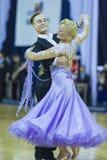 Minsk-Bielorrússia, o 5 de outubro de 2014: Dança profissional não identificada Fotografia de Stock