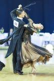 Minsk-Bielorrússia, o 5 de outubro de 2014: Dança profissional não identificada Fotografia de Stock Royalty Free