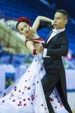 Minsk-Bielorrússia, o 5 de outubro de 2014: Dança profissional não identificada Imagem de Stock Royalty Free