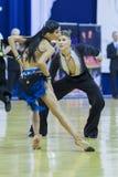 Minsk-Bielorrússia, outubro 4,2014: Dança profissional não identificada c Imagens de Stock