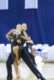 Minsk-Bielorrússia, outubro 4,2014: Dança profissional não identificada c Foto de Stock Royalty Free
