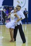 Minsk-Bielorrússia, outubro 4,2014: Dança profissional não identificada c Imagem de Stock Royalty Free