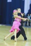 Minsk-Bielorrússia, outubro 5,2014: Dança profissional não identificada c Fotografia de Stock