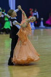 Minsk-Bielorrússia, outubro 4,2014: Os pares não identificados da dança executam Imagens de Stock