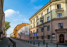 Minsk, Bielorrússia, rua revolucionária imagens de stock royalty free