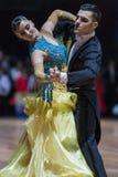 Minsk, Bielorrusia 14 de febrero de 2015: Pares profesionales de la danza de P Foto de archivo libre de regalías