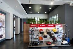 Minsk, Bielorrusia - 25 de junio de 2017: Oficina de ventas de Miele en Minsk Bielorrusia Imagenes de archivo
