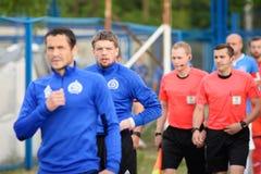 MINSK, BIELORRUSIA - 14 DE MAYO DE 2018: ANDREI de GORBUNOV del jugador de fútbol mira antes del partido de fútbol bielorruso de  Imagen de archivo