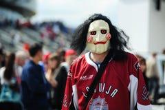 MINSK, BIELORRUSIA - 10 DE MAYO DE 2014: El campeonato del hockey sobre hielo del mundo Imágenes de archivo libres de regalías