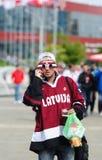 MINSK, BIELORRUSIA - 10 DE MAYO DE 2014: El campeonato del hockey sobre hielo del mundo Foto de archivo libre de regalías