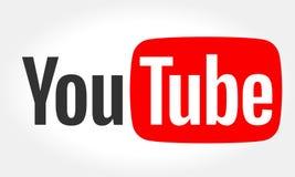 MINSK, BIELORRUSIA 10 DE MAYO DE 2018: Logotipo de YouTube impreso en el papel YouTube es un sitio web de vídeo-distribución ilustración del vector