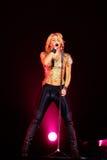 MINSK, BIELORRUSIA - 20 DE MAYO: Shakira se realiza en la Minsk-arena el 20 de mayo de 2010 en Minsk, Bielorrusia Foto de archivo libre de regalías