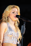 MINSK, BIELORRUSIA - 20 DE MAYO: Shakira se realiza en la Minsk-arena el 20 de mayo de 2010 en Minsk, Bielorrusia Fotos de archivo