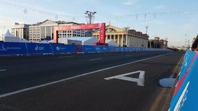 Minsk, Bielorrusia, el 22 de junio de 2019: final de la distancia de las competencias de deportes en los 2dos JUEGOS EUROPEOS en  metrajes