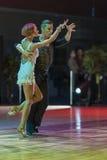 Minsk-Bielorrusia, el 18 de octubre de 2014: Pares no identificados Perfo de la danza Fotografía de archivo
