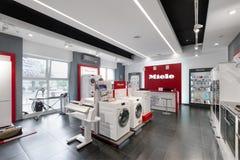 Minsk, Bielorrusia - junio 25,2017: Oficina de ventas de Miele en Minsk Miel Imágenes de archivo libres de regalías