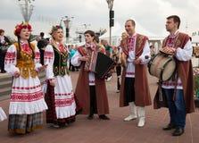 Minsk, Bielorrusia, 09-May-2014: celebración del mundo Cha del hockey sobre hielo Imagen de archivo