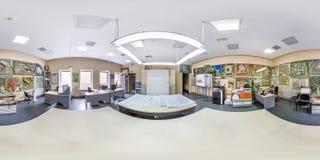 MINSK, BIELORRUSIA - MAYO DE 2019: Panorama inconsútil esférico completo del hdri 360 grados de opinión de ángulo dentro del inte foto de archivo libre de regalías