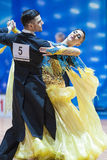 Minsk, Bielorussia 14 febbraio 2015: Coppie professionali di ballo della P Fotografia Stock