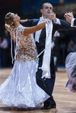 Minsk, Bielorussia 14 febbraio 2015: Coppie professionali di ballo di K Immagine Stock