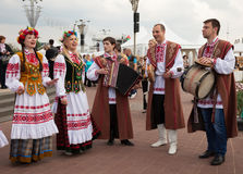 Minsk, Bielorussia, 09-May-2014: celebrazione del mondo Cha del hockey su ghiaccio Immagine Stock