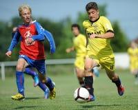 Minsk - Brasov bajo juego de fútbol 15 Imagenes de archivo