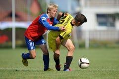 Minsk - Brasov under leken för fotboll 15 Fotografering för Bildbyråer