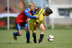 Minsk - Brasov under 15 soccer game Stock Image