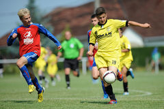 Minsk - Brasov under 15 soccer game Royalty Free Stock Photos
