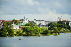 Minsk. Is the capital and largest city of Belarus, situated on the Svislach and Nyamiha rivers Stock Image