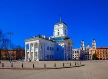 Minsk frihetsfyrkant Arkivbilder