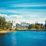 Minsk Historical Center View with Svisloch River Stock Photos