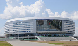 Minsk Ice Hockey Arena, Belarus. Hockey Arena built for the 2014 IIHF World Championships in Minsk, Belarus. July, 2009 stock photo