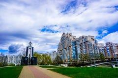Minsk-Insel von Rissen stockfoto