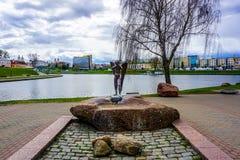 Minsk Island of Tears Angel stock photos