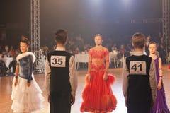 Minsk - January,15: Dance couple,standard program Stock Image