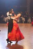Minsk - January,15: Dance couple,standard program Royalty Free Stock Image
