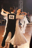 Minsk - January,15: Dance couple, standard program Royalty Free Stock Images