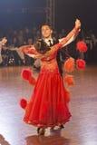 Minsk - January,15: Dance couple,standard program Stock Images