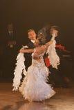 Minsk - January,15: Dance couple standard program Stock Photos