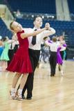 Minsk - mag, 19: Het paar van de Dans van de jeugd Stock Afbeelding